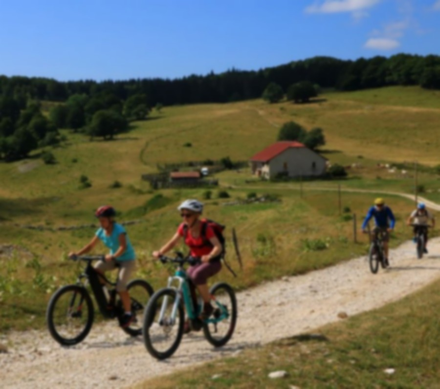 Mountain bike loop number 14 starting from Les Plans d'Hotonnes - Bugey's federal MB base.
